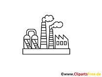 Industrie Zeichnung, Grafik, Clipart, Bild