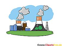 工業地帯、発電所 - 産業画像、ビジネスイラスト、ビジネスグラフィックス、クリップアート
