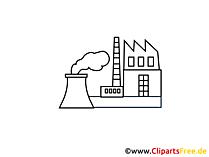 Industrieel gebiedstekening, grafisch, clipart, beeld