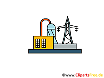 Elektriciteitscentrale afbeelding, clipart, illustratie, grafisch gratis