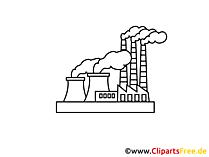 Kraftwerk Zeichnung, Grafik, Clipart, Bild
