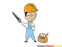 Lass uns arbeiten - Industrie Cliparts, Wirtschaft Bilder, Business Grafiken, Illustrationen