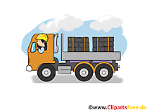 LKW Transport, Logistik - Industrie Cliparts, Wirtschaft Bilder, Business Grafiken, Illustrationen