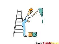 Schilder aan het werk - industriefoto's, zakelijke illustraties, zakelijke afbeeldingen, Cliparts