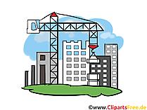 Ontwikkelingsgebied, Bouwwerf, Appartementen - Industrie Cliparts, Zakelijke afbeeldingen, Grafiek, Illustraties