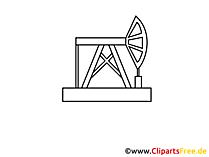 Ölindustrie Zeichnung, Grafik, Clipart, Bild