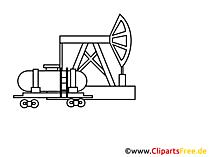 Ölraffinerie Zeichnung, Grafik, Clipart, Bild
