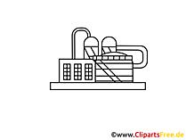 Produktionsgewerbe Zeichnung, Grafik, Clipart, Bild