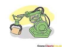 Productielijn, lint, stroomproductie, robotindustrie Cliparts, bedrijfsafbeeldingen, zakelijke afbeeldingen