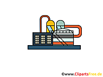 Raffinerie Clipart, Bild, Cartoon, Grafik gratis