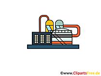 Raffinaderij clipart, afbeelding, tekenfilm, gratis grafisch