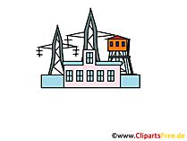 Elektriciteit, Elektriciteitscentrale afbeelding, Clipart, Grafisch, Pic