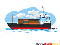 Tanker Bild - Industrie Cliparts, Wirtschaft Bilder, Business Grafiken, Logistik Illustrationen