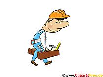 Tischler, Handwerker - Industrie Cliparts, Wirtschaft Bilder, Business Grafiken, Illustrationen