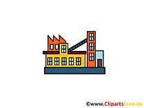 Verarbeitung, Werk, Fabrik Clipart, Bild, Cartoon, Grafik