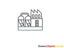 Verwerkende industrie afbeelding, clip art, illustratie, afbeelding