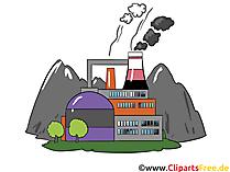 Plant, Factory - Industrie Cliparts, zakelijke afbeeldingen, Business Graphics, illustraties