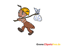 Ant Clip Art, Comic, Cartoon, Image, Pic, Illustration