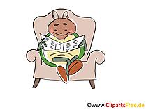 Böcek gazete karikatür, çizgi film, küçük resim, resim, çizim, ücretsiz resim okur