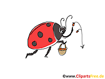 Ladybug Comic, Cartoon, Clipart, Bild, Zeichnung, Illustration free