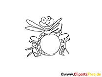 Çizim böcek davul çalar