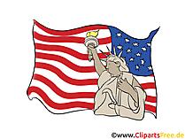 4. Juli - Unabhängigkeitstag Vereinigte Staaten (USA)