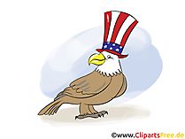 Clip Art Eagle for 4th July Independence Day