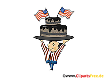 Illustration Clip Art Independence Day USA