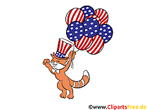 Independence Day of America Cliparts, Images, Graphics
