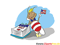 July 4th Clip Art, Image, Comic, Cartoon