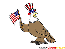 July 4th Clipart, Bild, Grusskarte gratis