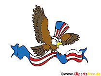 USA 4 July Clip Art, Image, Grafik, Bild