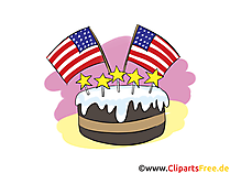 USA Flag Clipart, 4 July, Image, Graphic