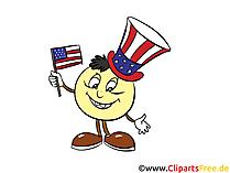 USA Nationalfeiertag Clipart, Bild, Grusskarte gratis