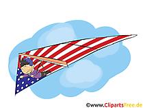 USA Unabhängigkeitstag Clipart, Bild, Grusskarte gratis