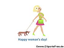 8 März Glückwünsche Glückwunschkarte, Bild, Illustration