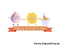 女性の日の写真