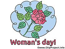 女性の日のための花の写真