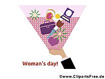 Kadınlar Günü için tebrik kartı
