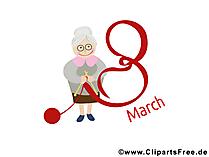 国際女性の日8 3月おめでとう、カード、画像