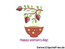 Dünya Kadınlar Günü kartı, resim, tebrikler