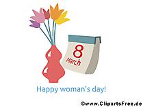 Dünya Kadınlar Günü.Görüntü, kart, çizim