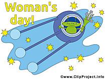 女性の日のためのフリーカード