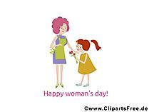 Dünya kadınlar günü tebrik kartı