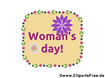 女性の日カード、クリップアート、イメージ