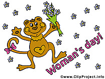 Womans Day Card for free