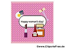 Zum Frauentag Glückwunsch, Karte, Bild