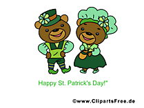 Happy St Patricks Day Card, Picture, Cartoon
