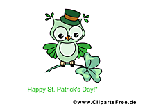 St Patric Day illustraties, afbeelding, e-card, cartoon