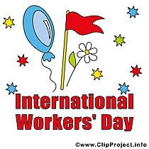 International Worker's Day Clipart Image gratis